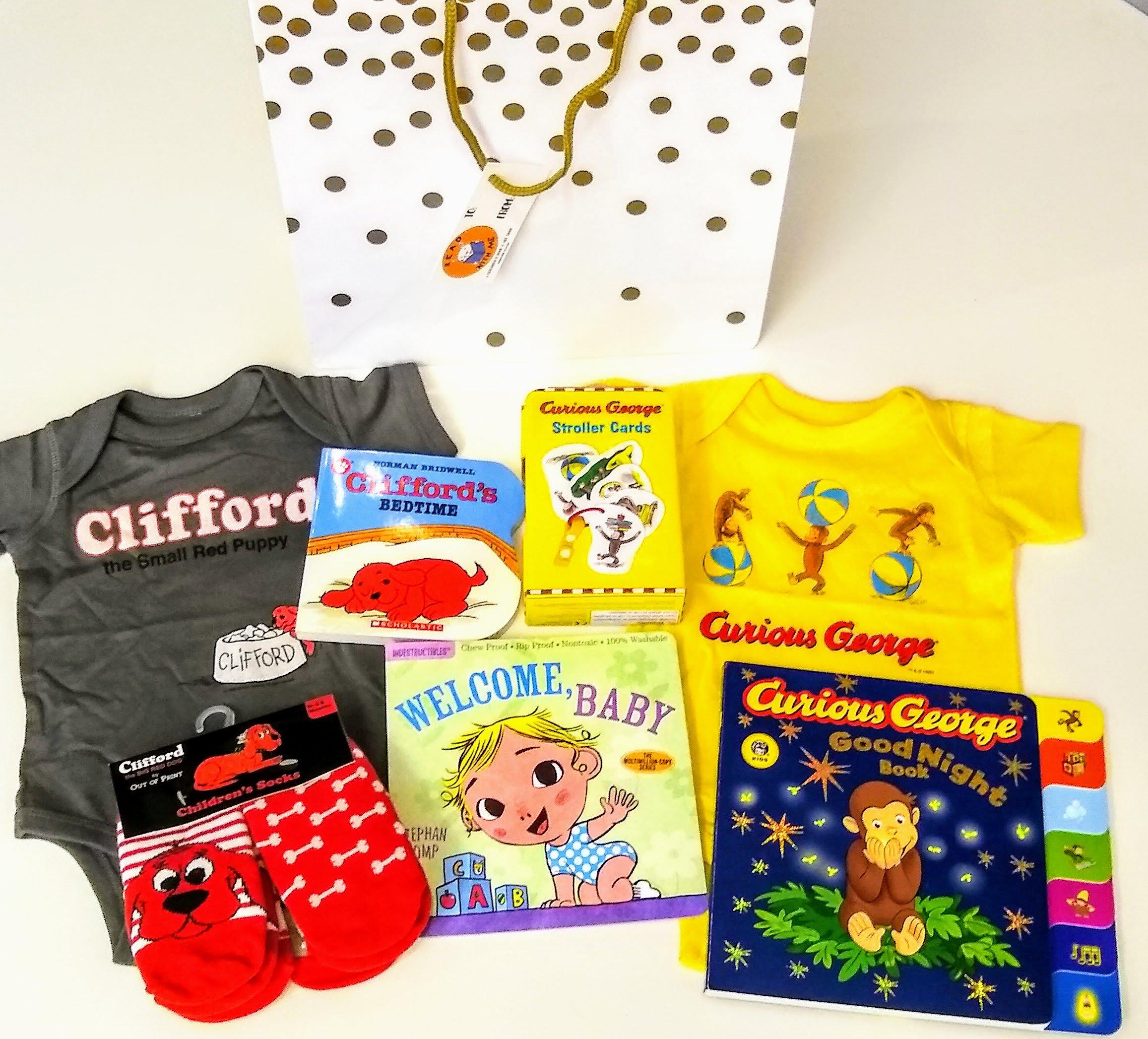 Custom baby shower gift bag example
