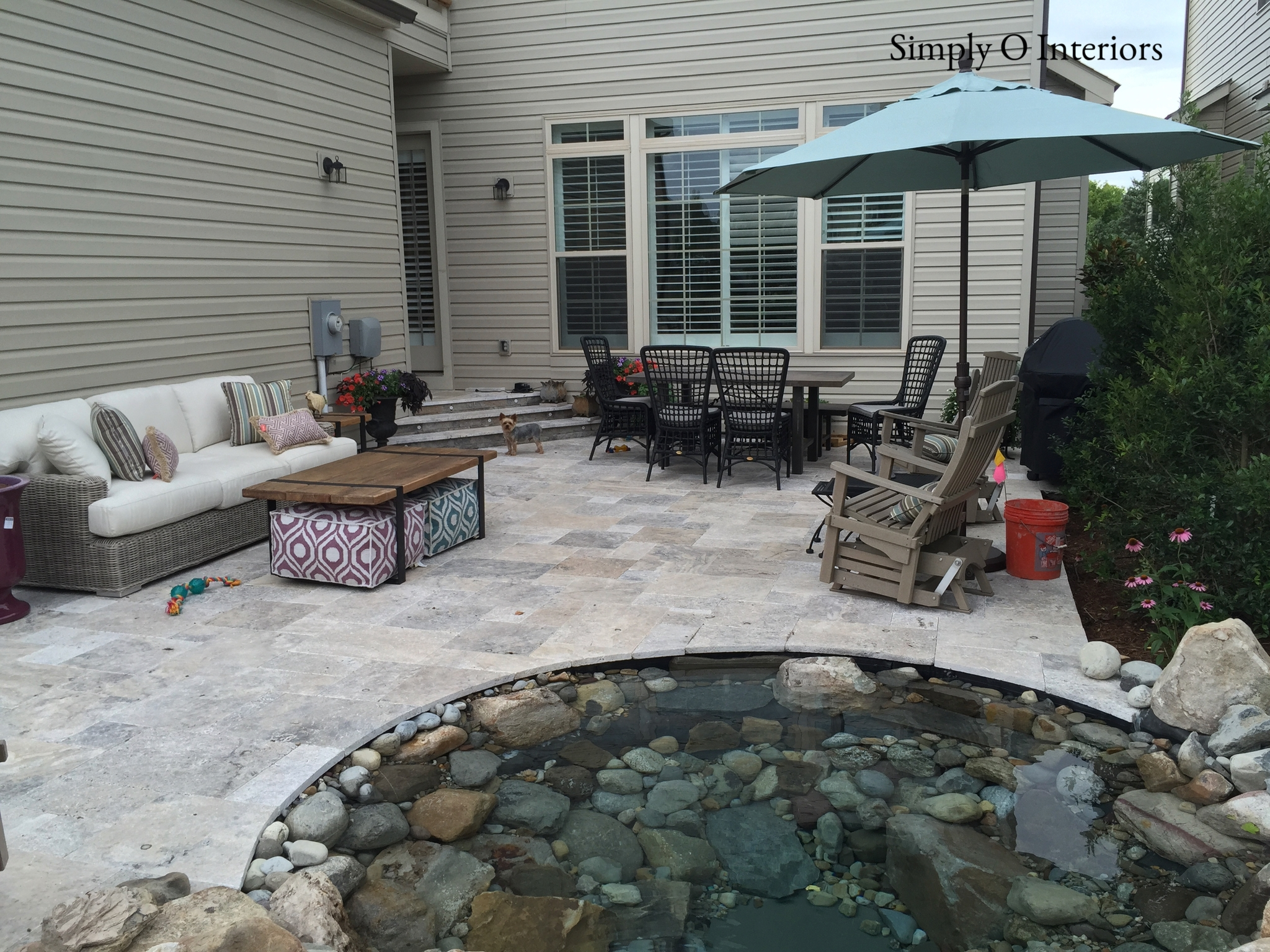 Custom Travertine Patio