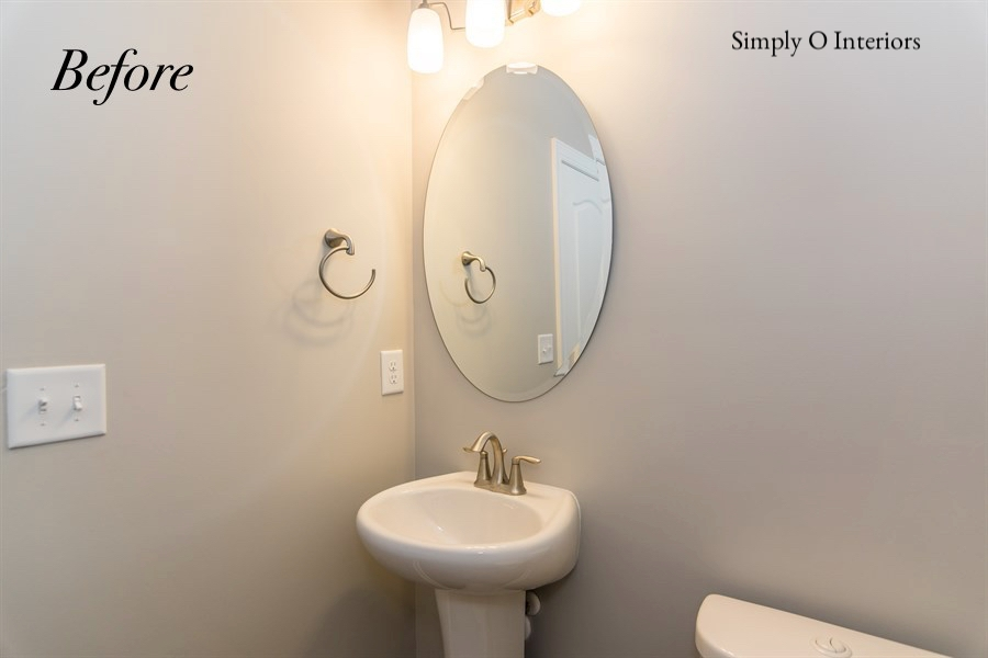 Builder Grade Powder Room