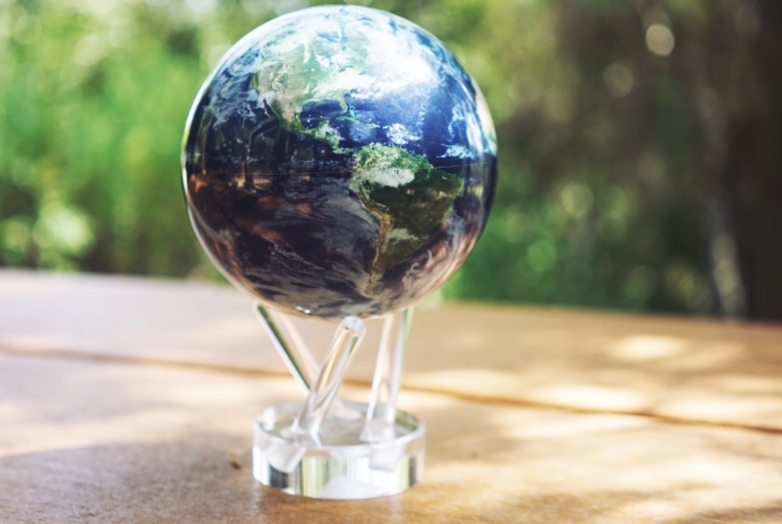 Mova Globes are solar-powered, and continually spin when placed in the path of a light source. Perfect gift item for that person who has it all.