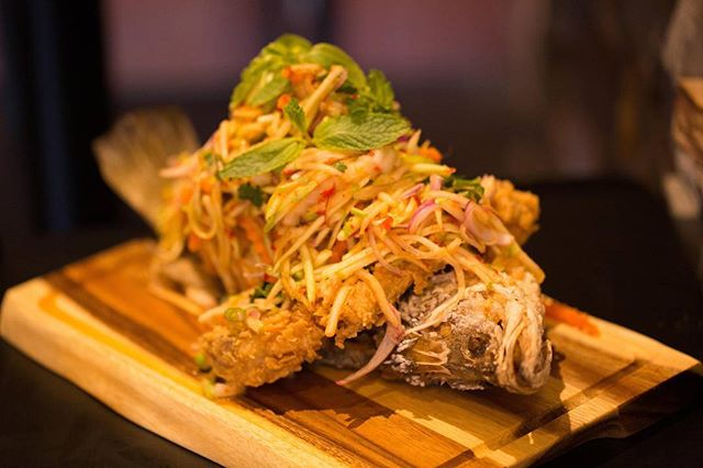 Introducing our Master Piece! Fish with Mango Salad! 😻