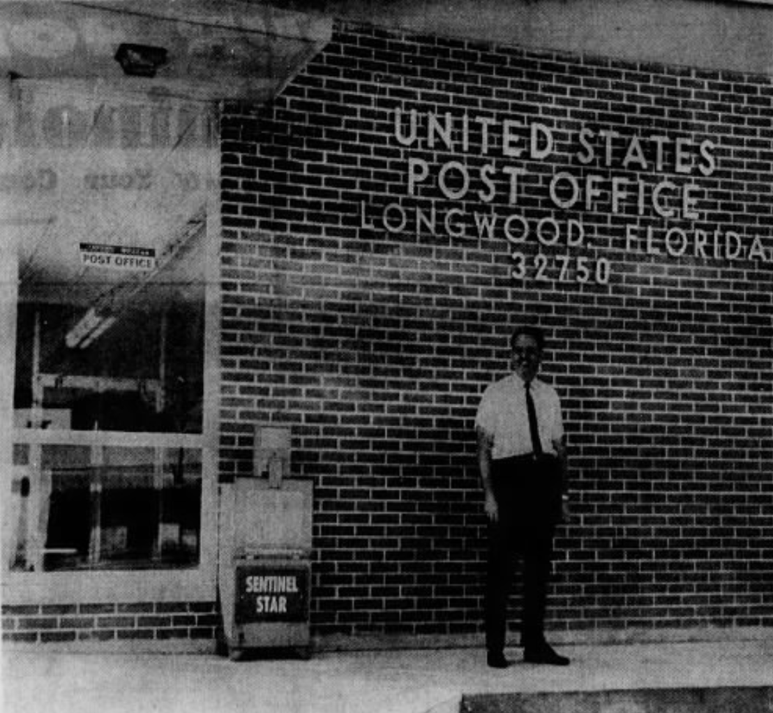 New post office in Longwood, shortly after opening from 1969 Orlando Sentinel.