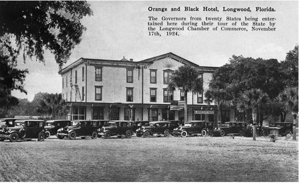 Governors of many US states toured Florida in 1924 and made a stop in Longwood.