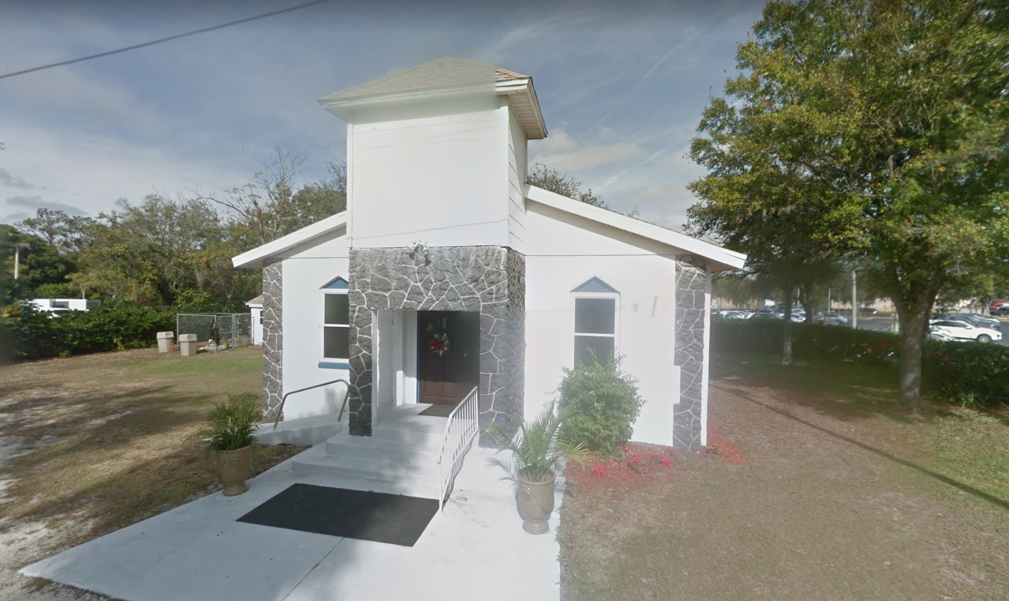 Google Street View  of the new church building, tucked next to the Porsche dealership.