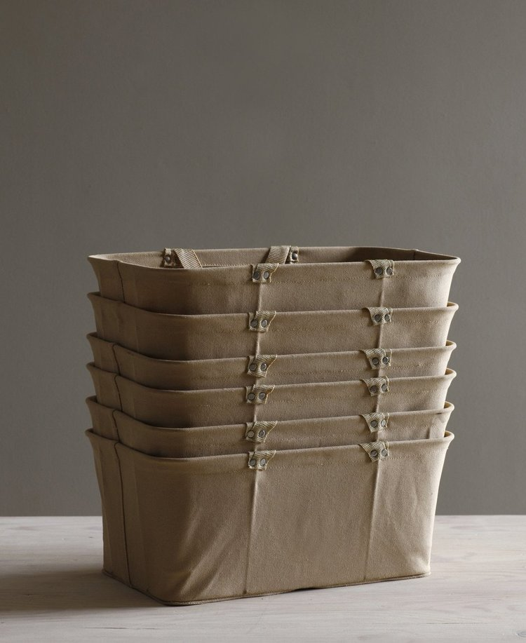 HANDMADE CANVAS SHOPPING BASKET AVAILABLE AT SPECIFIED STORE |  Such a wonderful, sturdy alternative to the usual shopping bag replacements, this one from Speciified Store is sure to make the mid-week grocery run a good one | image via Specified Store    LINK HERE >>>