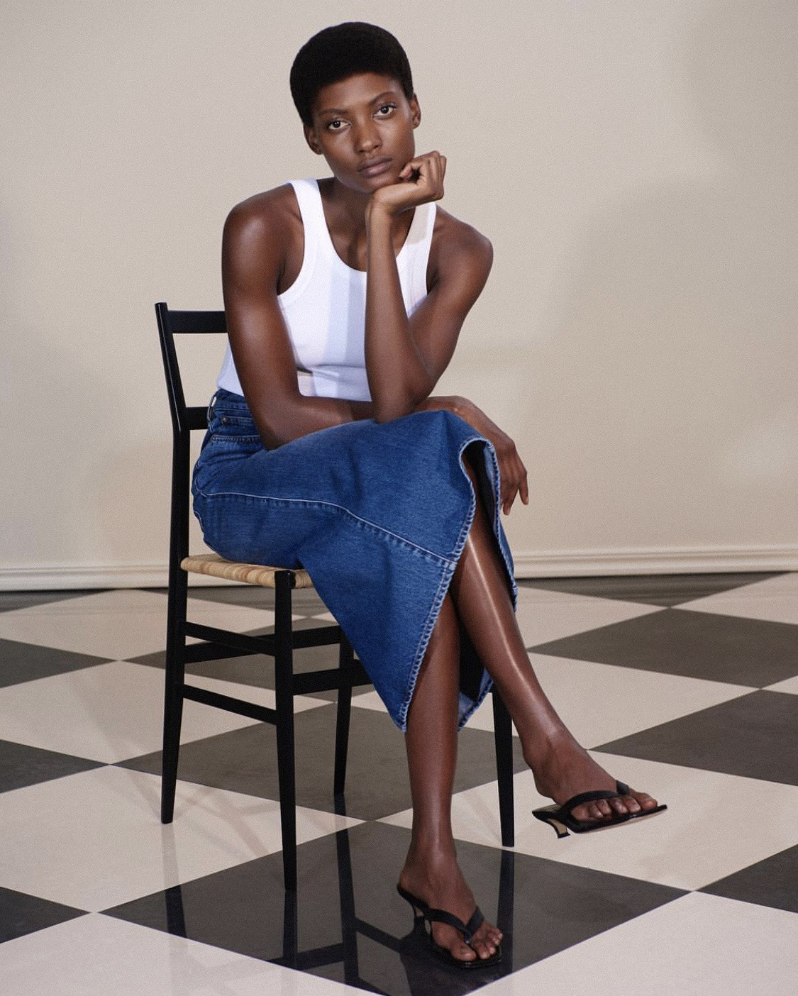 """THE BITTI DENIM SKIRT FROM TOTEME 