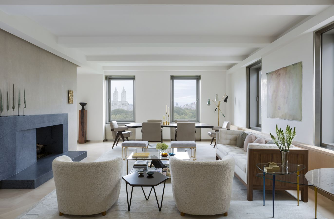 BRYAN O'SULLIVAN STUDIO | With maximum views of the park, this Fifth Avenue Apartment by Irish designer Bryan O'Sullivan is the ultimate exercise in restraint, emphasised by the muted, harmonious colour palette throughout | image via BOSS STUDIO    LINK HERE >>>