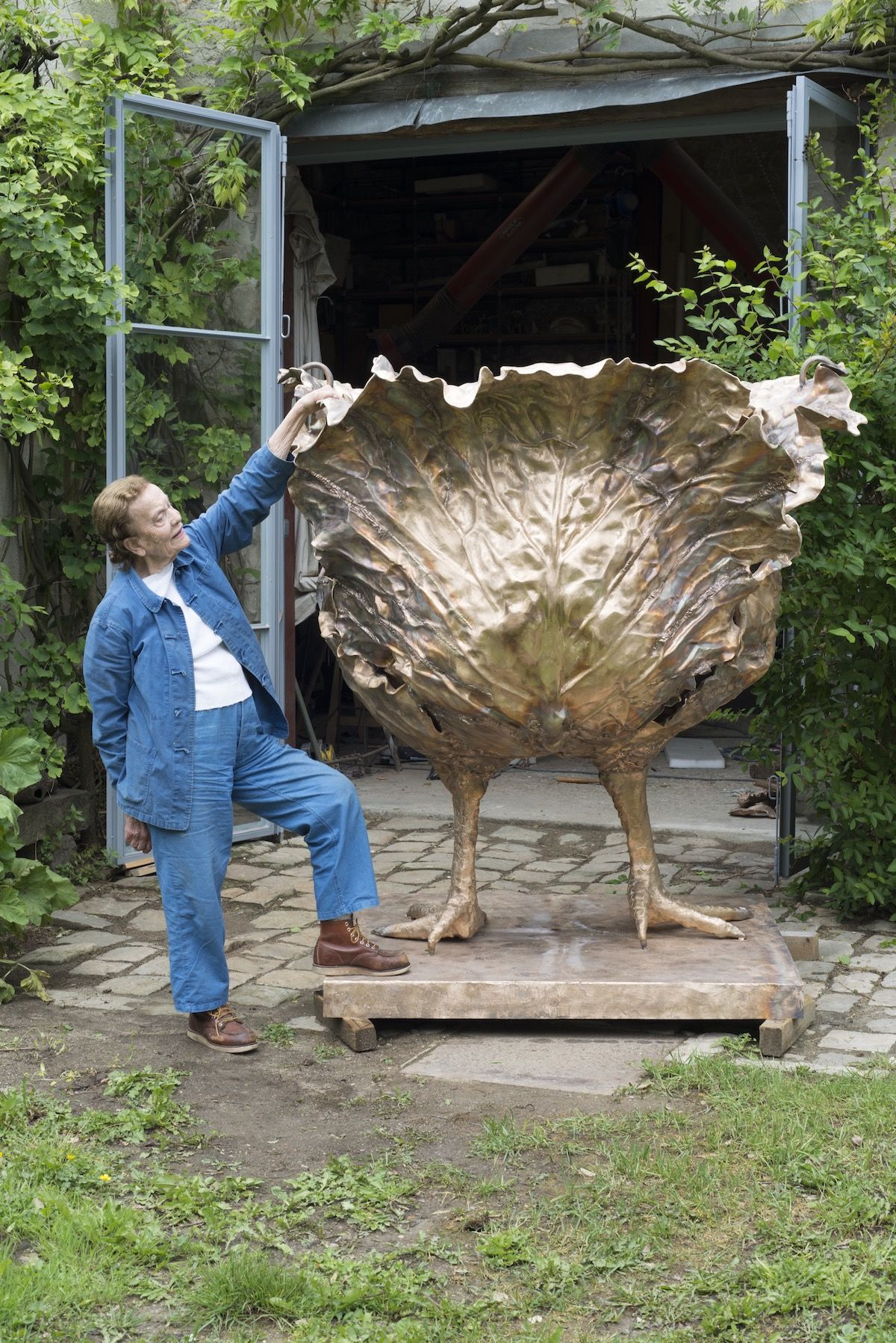CELEBRATING THE LIFE AND WORK OF CALUDE LALANNE | French artist and sculptor, and one half of les Lalanne, Claude Lalanne, dies at 93 | image via ARTSY, photo 'Claude Lalanne with the Choupatte Géante' in 2016. Photo by Capucine de Chabaneix. © The Artist. Courtesy of Ben Brown Fine Arts.      LINK HERE >>>