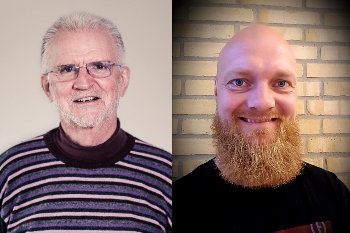 Jerry (skoleleder på Lagoniskolen) og Søren (fra Agora) var samarbejdspartnere gennem hele projektforløbet i Videnproducerende Skoler.