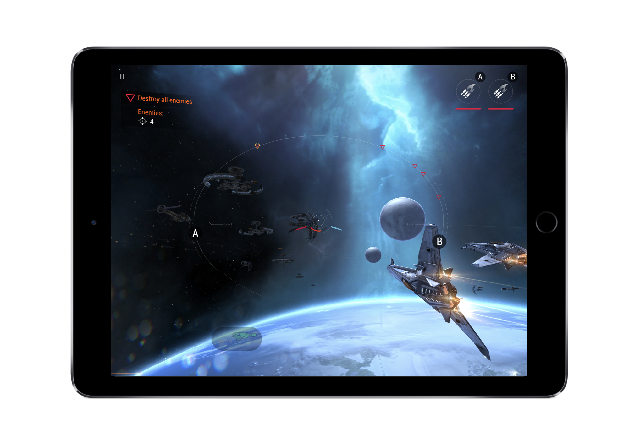 In  Galaxy on Fire- Manticore RISING by Fishlabs, the developer gradually teaches the basic controls and metagame during the first few levels. Later on, they explain more advanced controls like the ability to evade.
