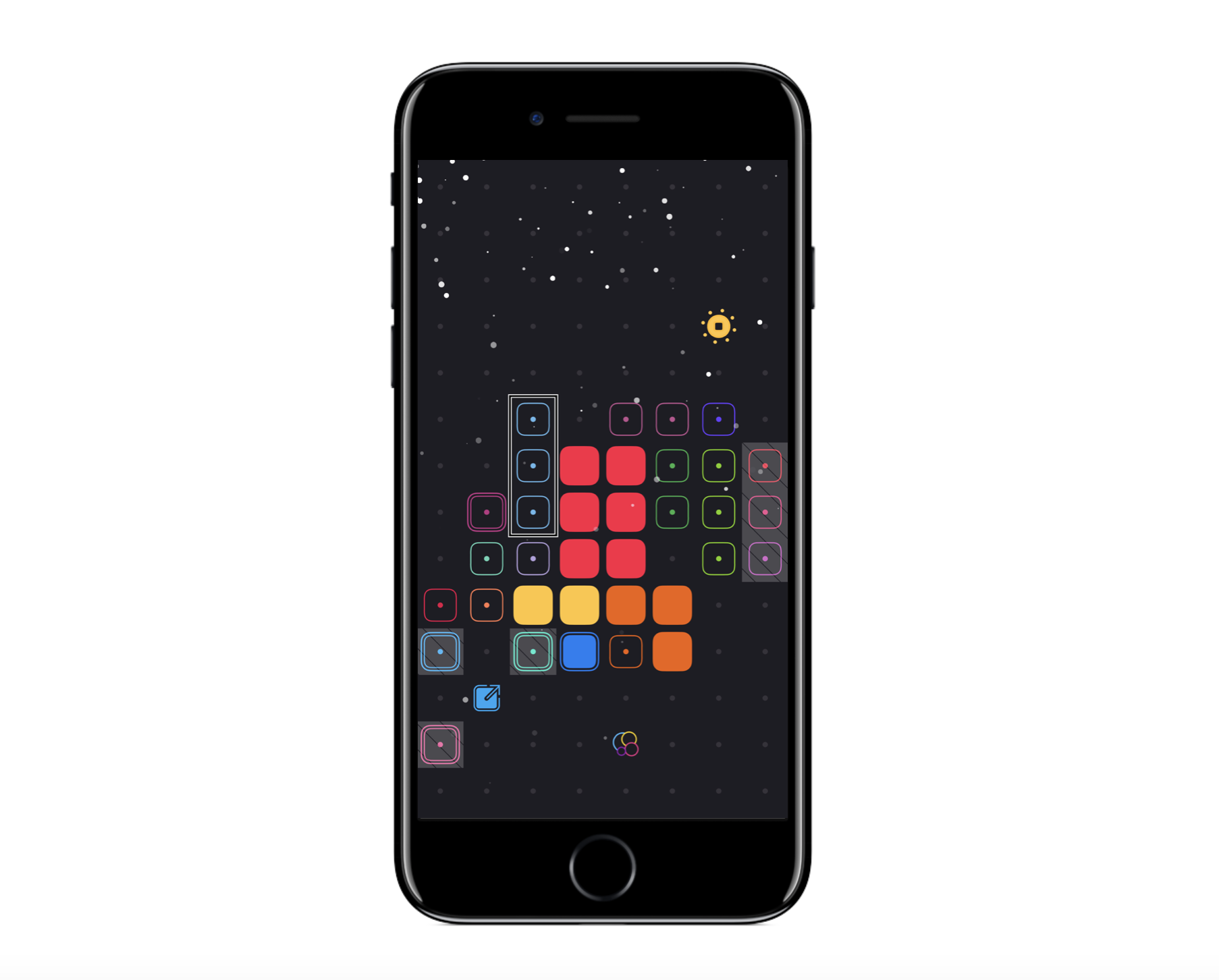 Not only is    Blackbox by Ryan McLeod    an amazingly designed game, and winner of an Apple Design Award, but it also is fully accessible, taking advantage on iOS's Accessibility features.