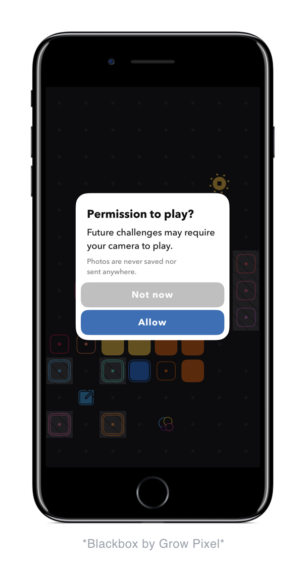 Black Box by Grow Pixel does an amazing job of asking for permissions in context as well as being clear as to WHY they are asking for these permissions.