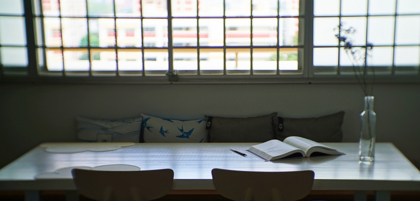 You can eat at the dining table. Or you could sit, read and write.