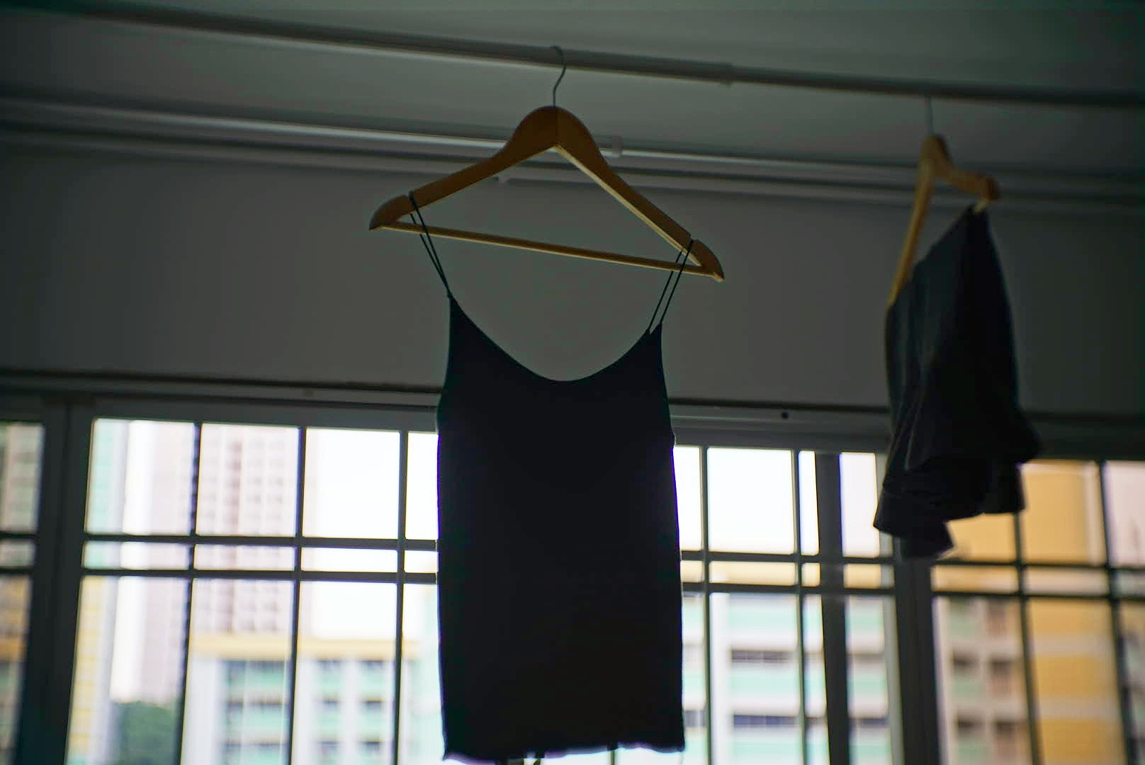 Air drying clothes is very common in Singapore.
