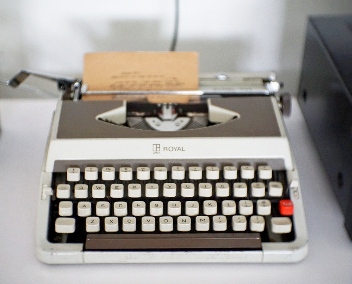 The Royal Litton 203 typewriter.
