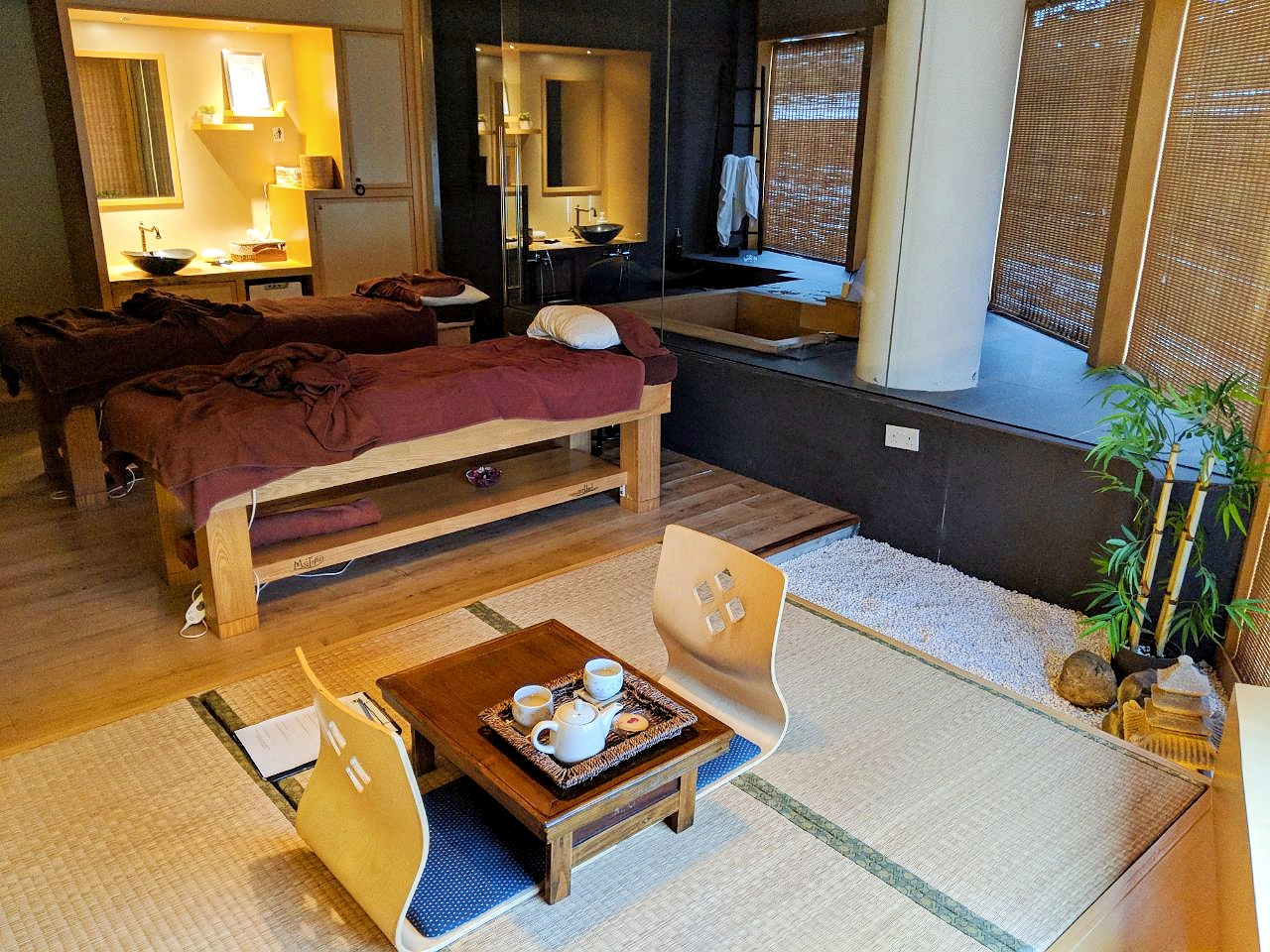 After the relaxing onsen experience, you can proceed to the beds for your massage.