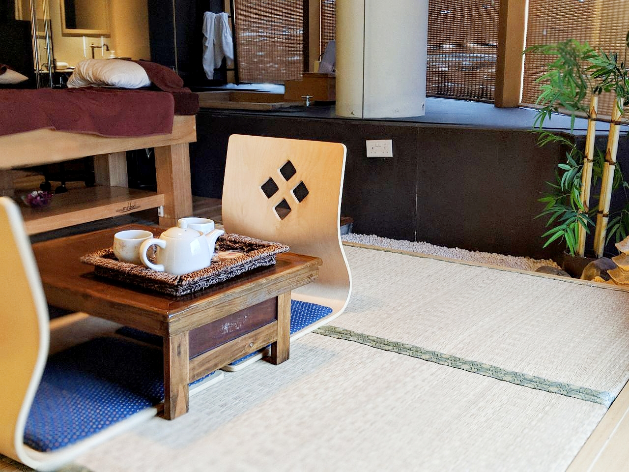 The private couple suite was pretty and felt like a ryokan.