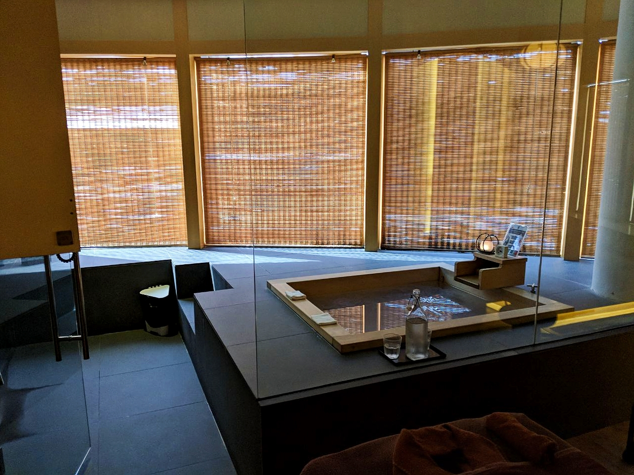The Hinoki onsen was luxurious, and we do recommend it.