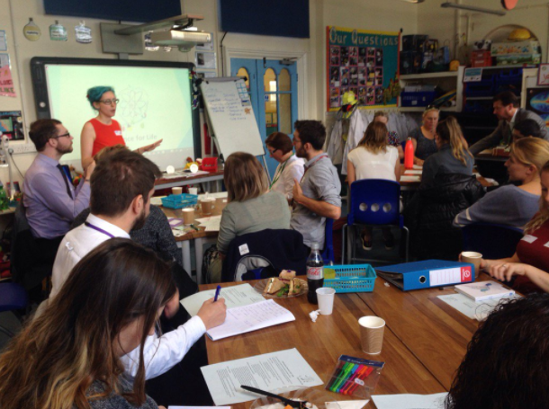 Latest news: SfL launch event - 24 Science Leads, Assistant Heads, Headteachers and project partners came to Gillespie Primary School Lab_13, for the launch of our Science for Life (SfL) school partnership project.