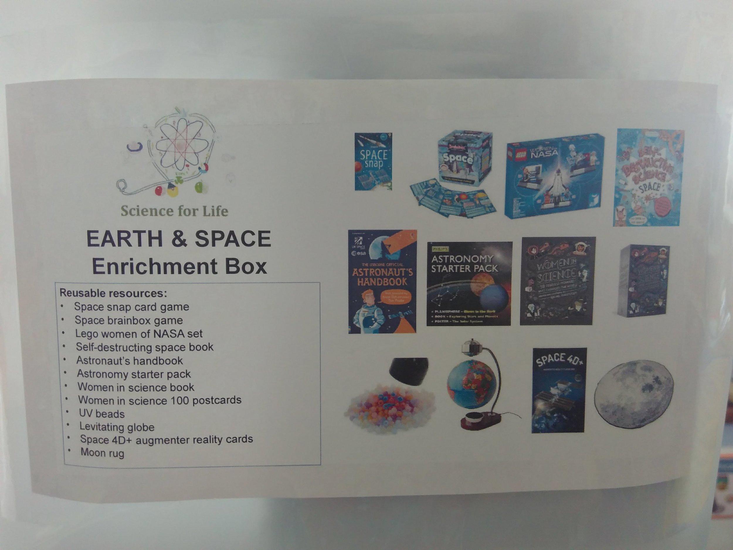 Enrichment resource box contents
