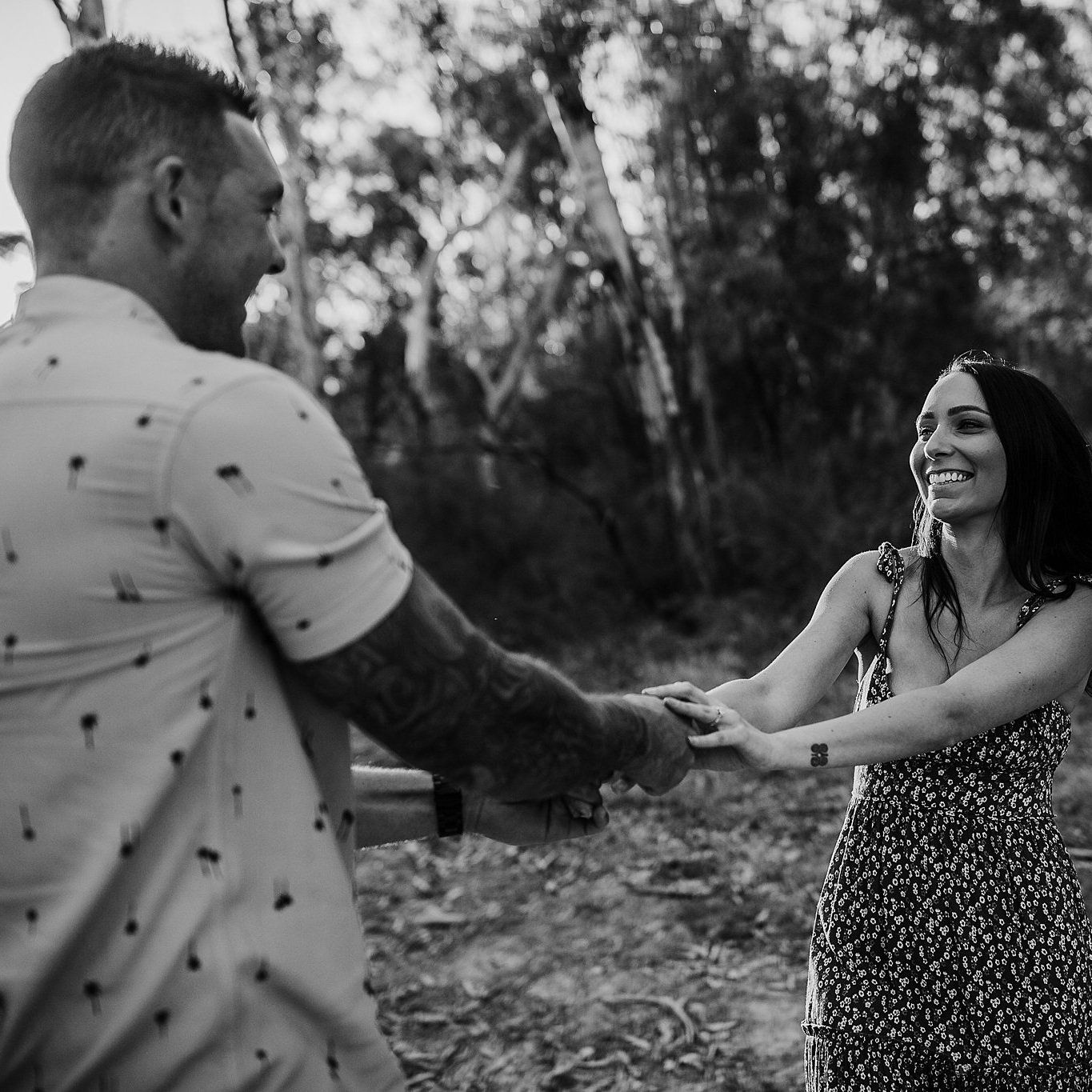 "Rebecca + Michael - Yarrawonga, vic - ""We had Mickala photograph our wedding on the 10th of October this year, we had been watching her work on Facebook for a while and knew she was the one for us. She was extremely adapt at capturing the moment, as she gave us tips along the way to obtain those truly genuine moments. Being a local in the area, she knew all the best places to get the perfect pictures for the occasion. We would highly recommend Mickala to anyone who is planning any occasion, even with a foot fracture she showed dedication by going into rough terrain and being extremely mobile. We also took advantage of having a second photographer so that the whole experience was captured (EG: The bride and groom getting ready in two separate locations), the second photographer was also awesome, you can tell they have worked together before."""