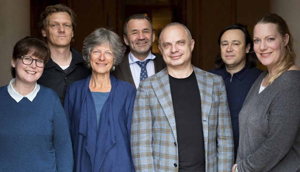 The Committee: (from the left) Hanne Tømta, Dr. Thomas Oberender, Julie Holledge (resigned), Per Boye Hansen, Roman Dolzhanskiy, Stephan Braunschweig and Sofia Jupither.