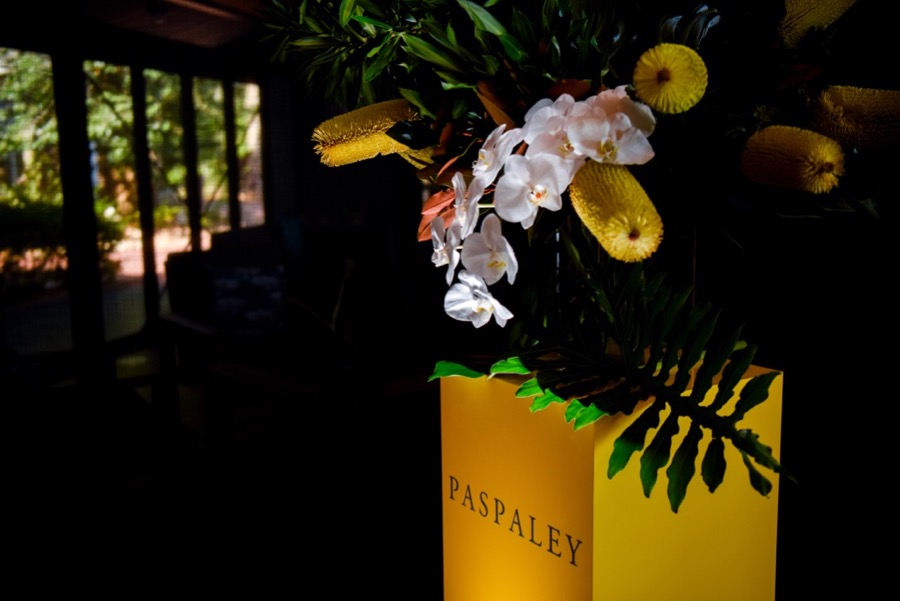 yellow banksias to highlight the signature yellow of the Paspaley brand
