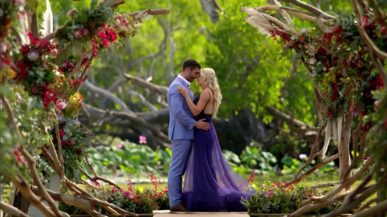 The Bachelorette finale floral decor by Beija Flor in the Northern Territory