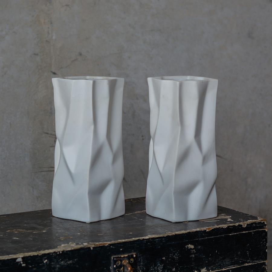 tall paper bag vase for fresh flowers