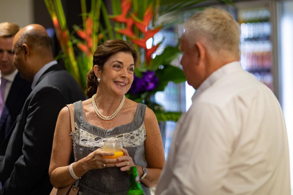 Guests at Virgins, Darwin to Bali flight launch party at Darwin airport.