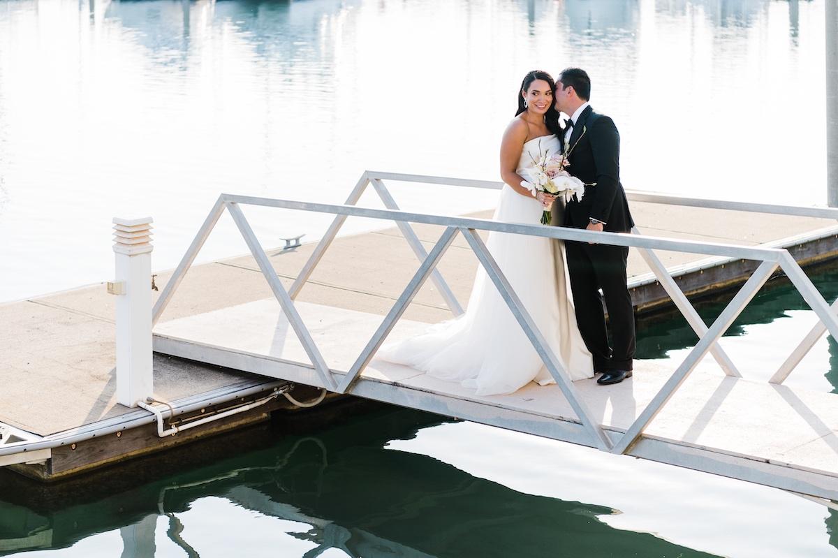 Cullen Bay wedding in Darwin, beautiful marina urban wedding backdrop