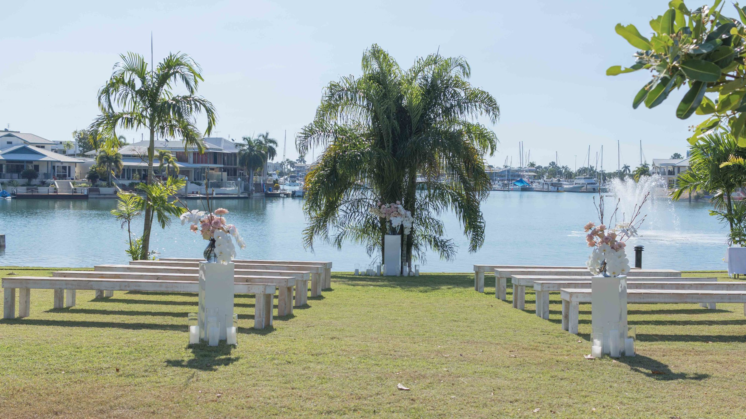 Copy of wedding ceremony overlooking Cullen Bay marina