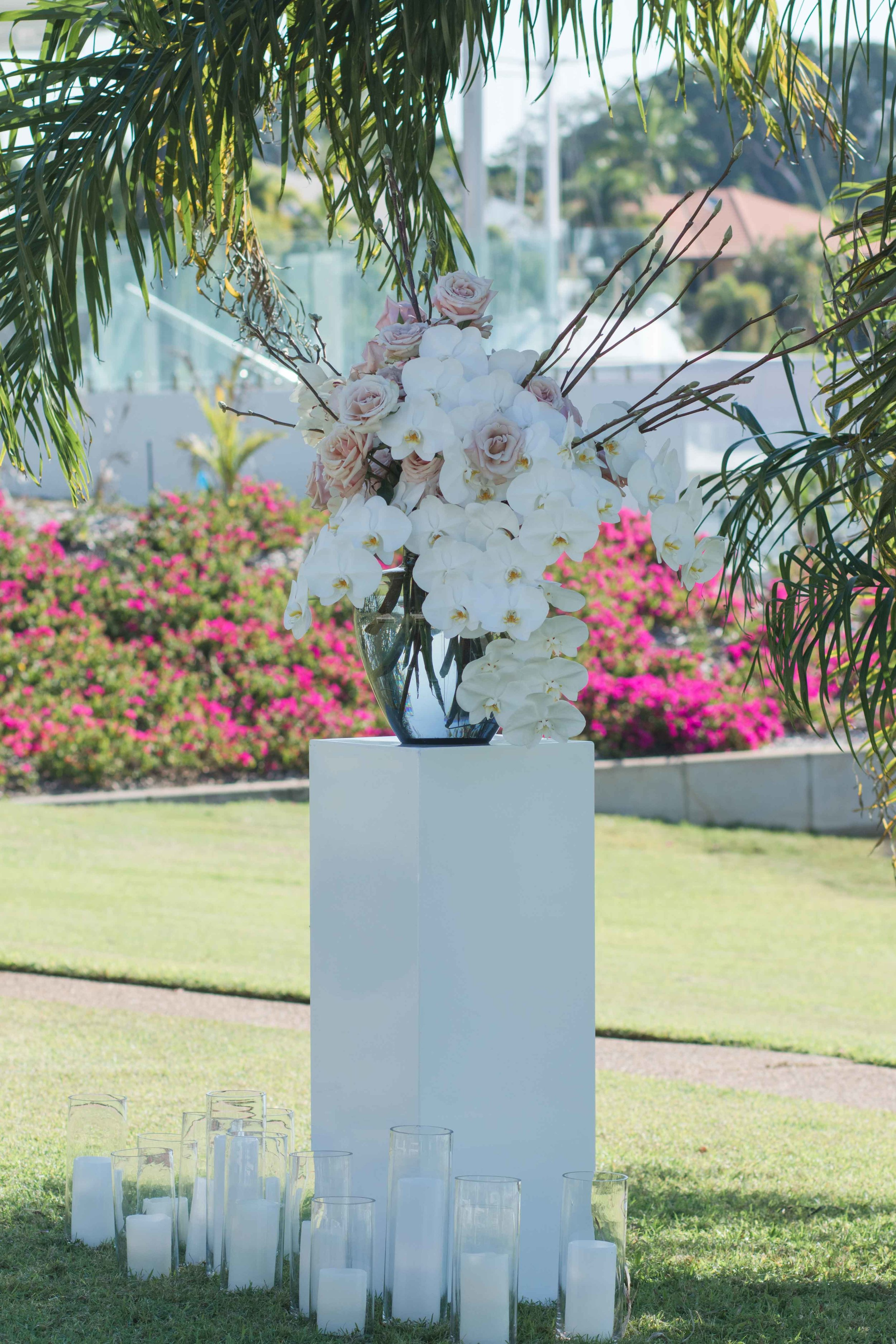 Copy of floral decor at Cullen Bay wedding