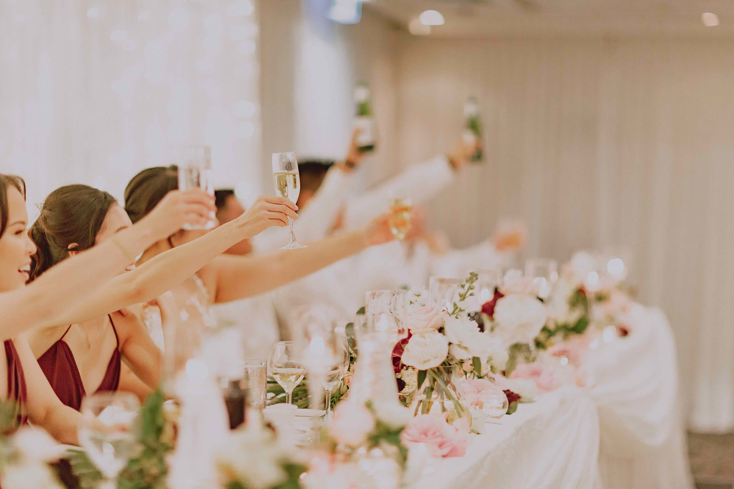 Cheers! Bridal party at Darwin wedding.