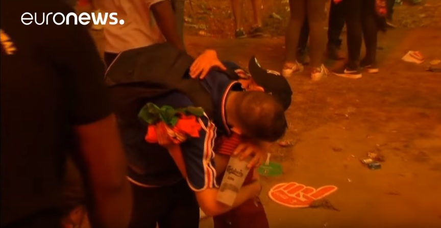 Portuguese kid consoles a crying Frenchman