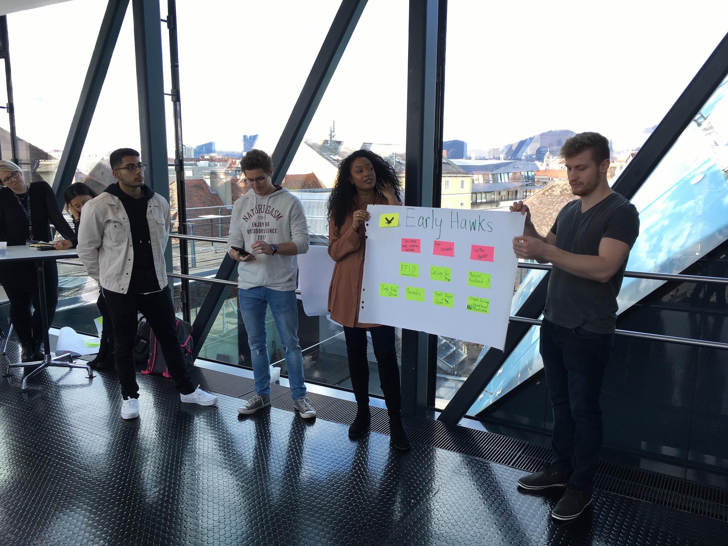 TEA students presenting in Needle 2017.jpg