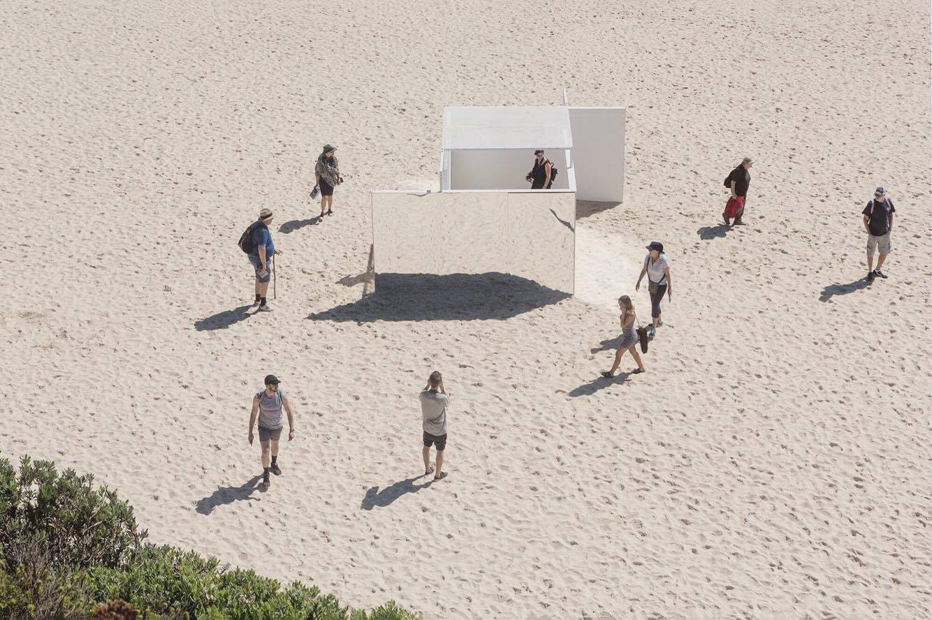 Temple is a pavilion completed for Sculpture by the Sea Bondi, in collaboration with Sophie Lanigan.