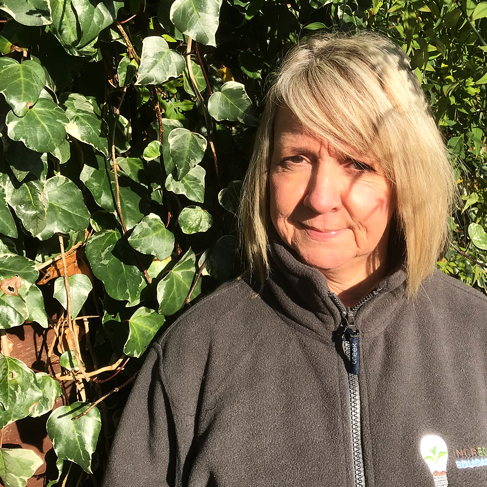 Carol - Horticulture Volunteer - Carol has been a volunteer at Incredible Education for over 2 years. She has worked as a Civil Servant for 34 years and decided she wanted to help the community. She works with the students from Oakwood Academy where she assists and encourages them to develop their horticulture skills and gain a qualification. Carol really enjoys volunteering and hopes that one day it will make a difference and help someone to achieve the unexpected.