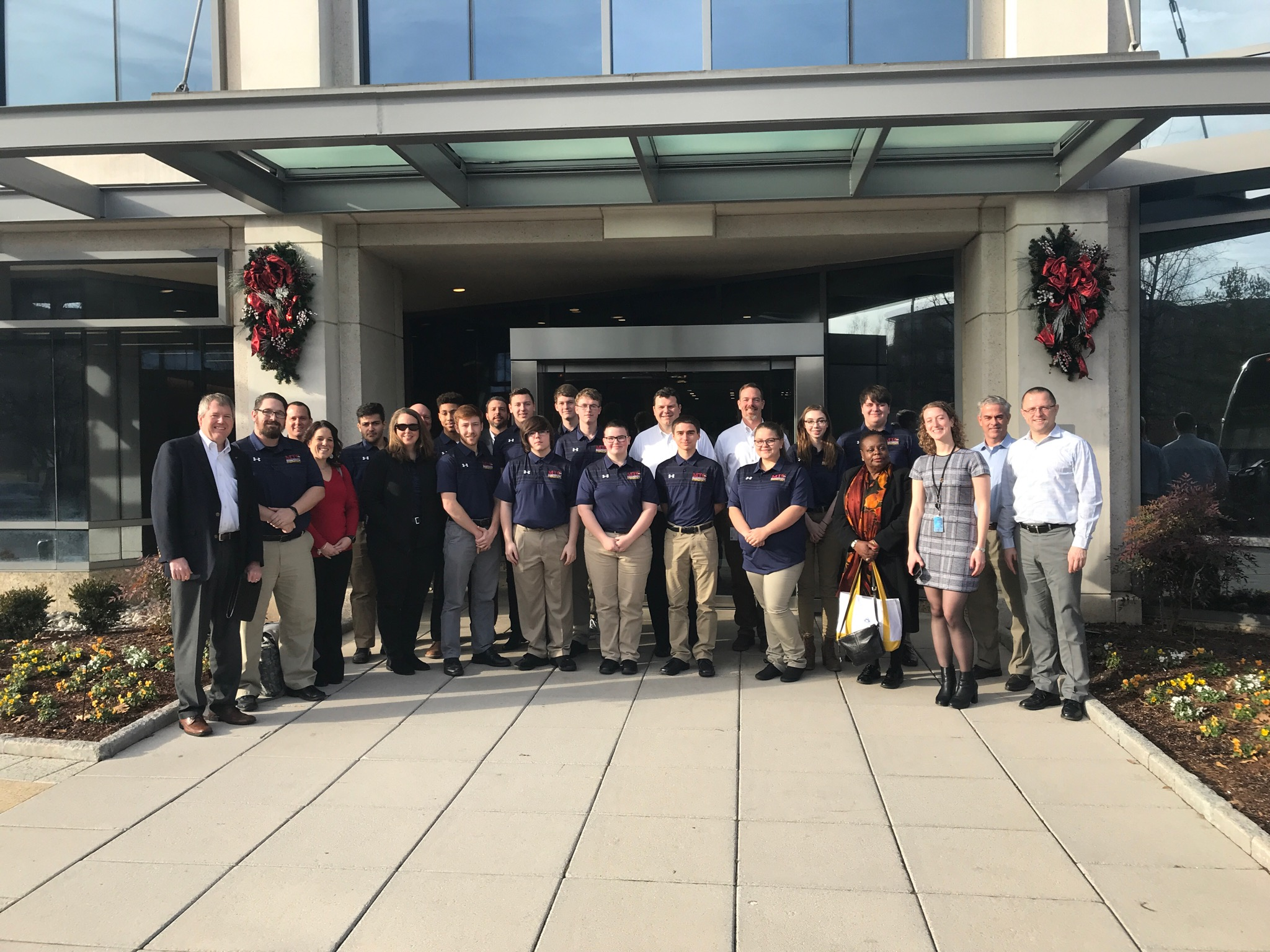 MTC students and community partners touring Symantec in Northern VA.