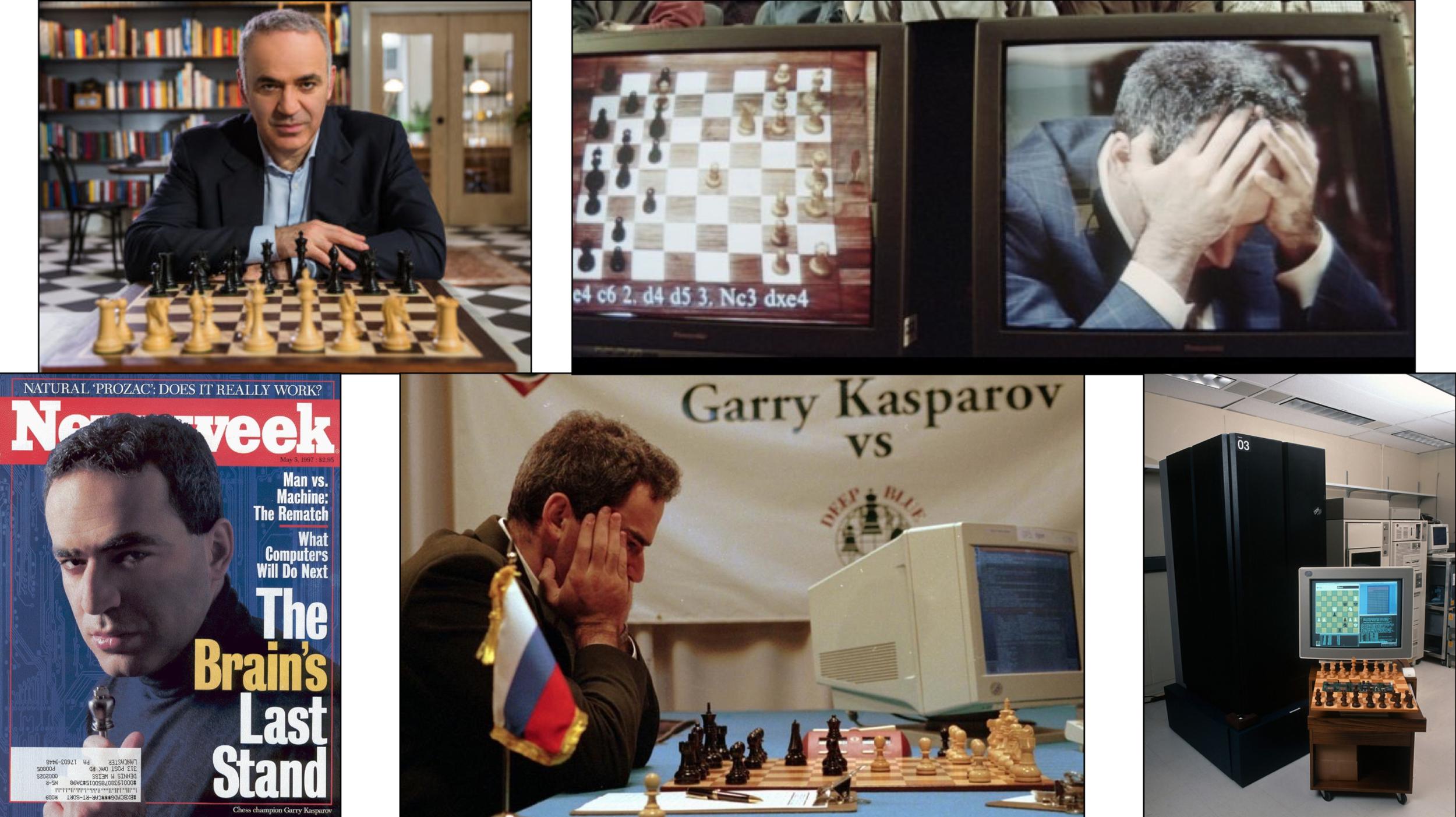 Kasparov-IBM Deep Blue - LA MACCHINA BATTE L'UOMO[New York] 1997