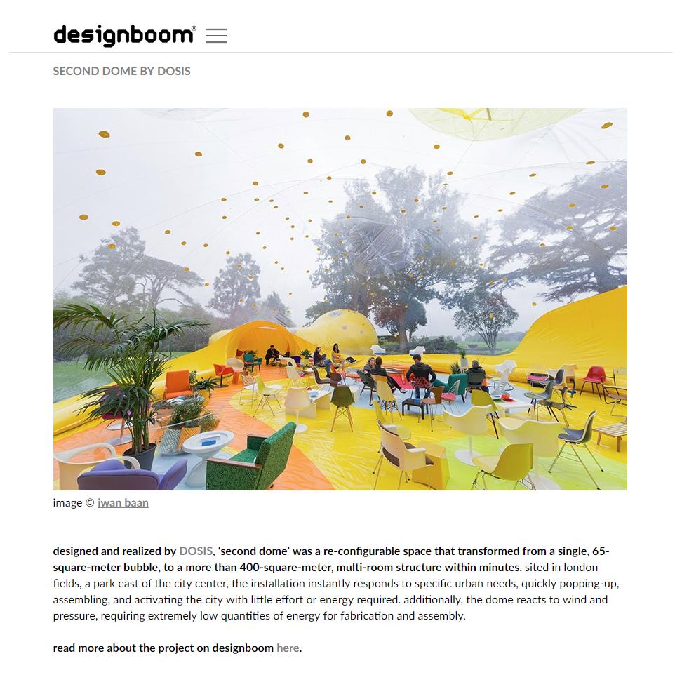 Designboom. TOP 10 Temporary Structures. 2016