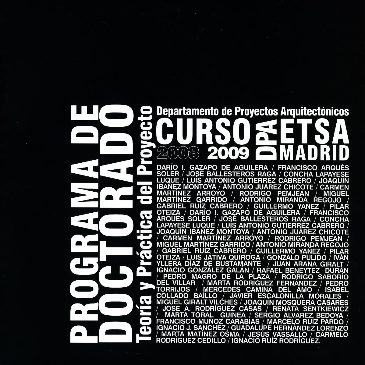 Programa de Doctorado. 2009