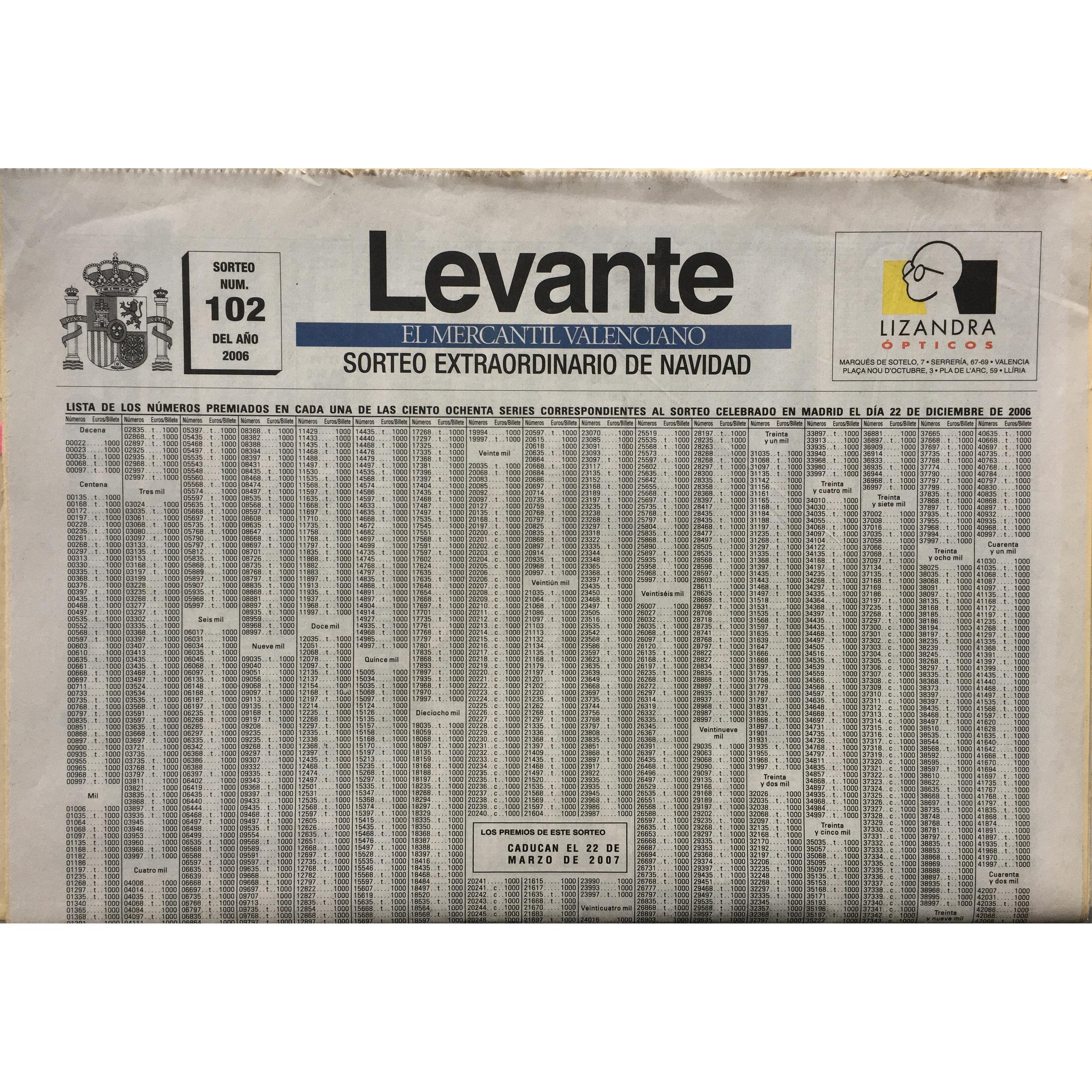 Levante. 2006 (Printed publication)
