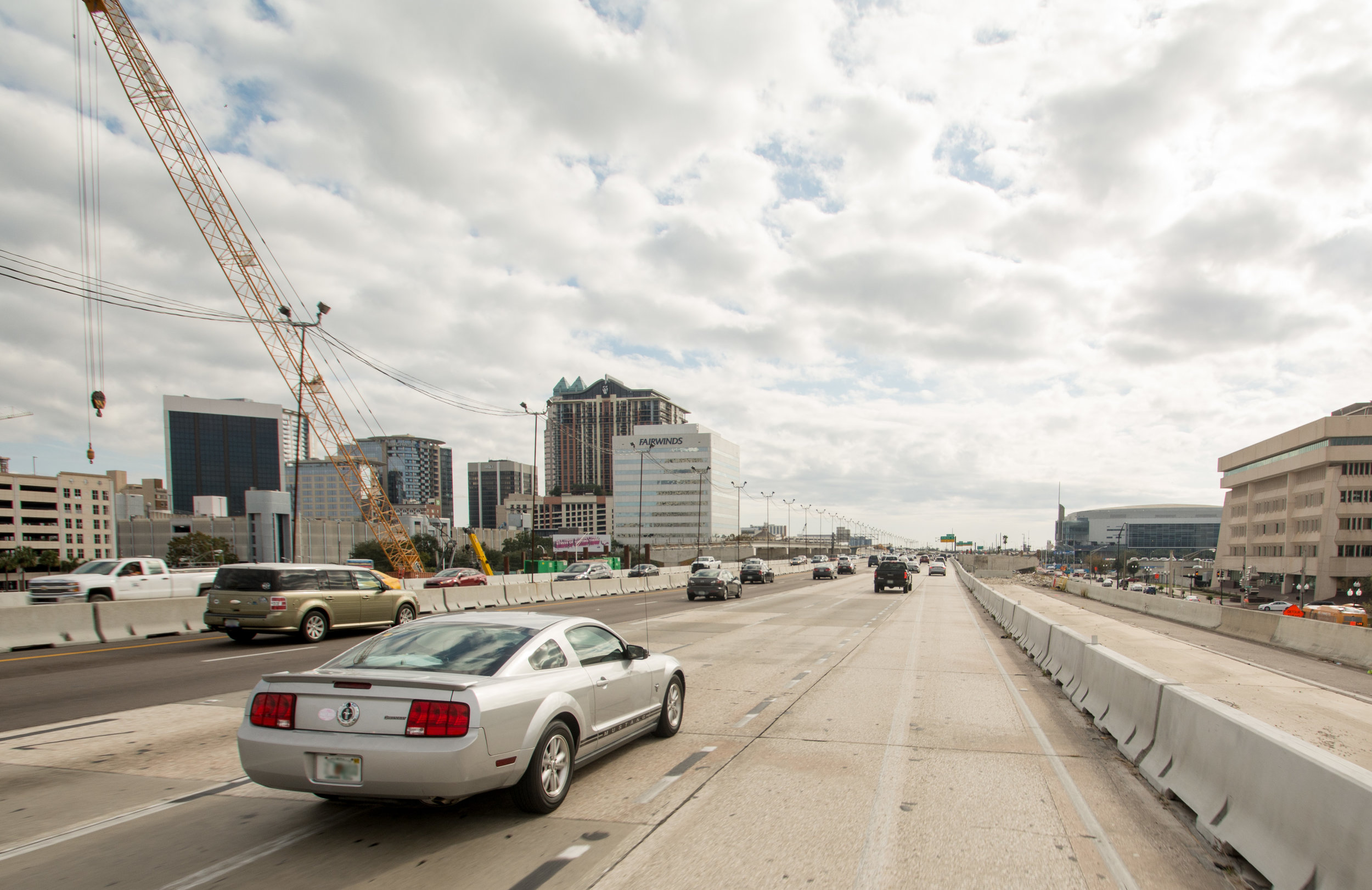 Interstate 4, recently named the most  deadly highway in the country , intersects downtown Orlando. A  $2.3 billion  overhaul of 21 miles of the road is currently underway. By 2021, the region will have an even larger highway to its name.