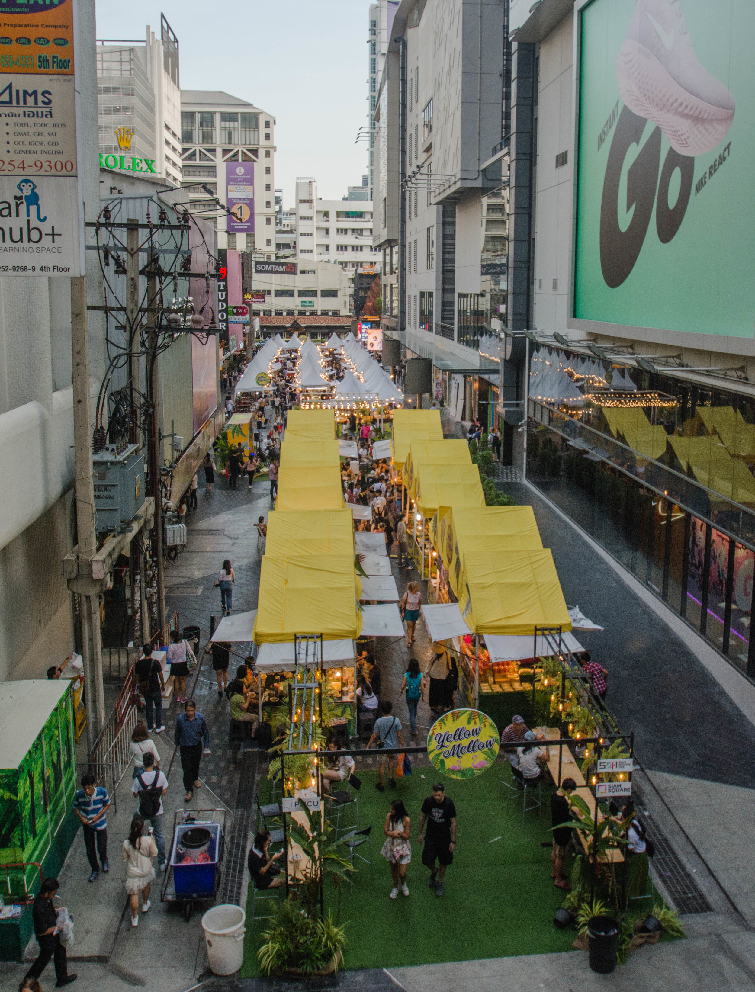 """Yellow Mellow Market,"" beside Siam Paragon Mall, Pathum Wan District"