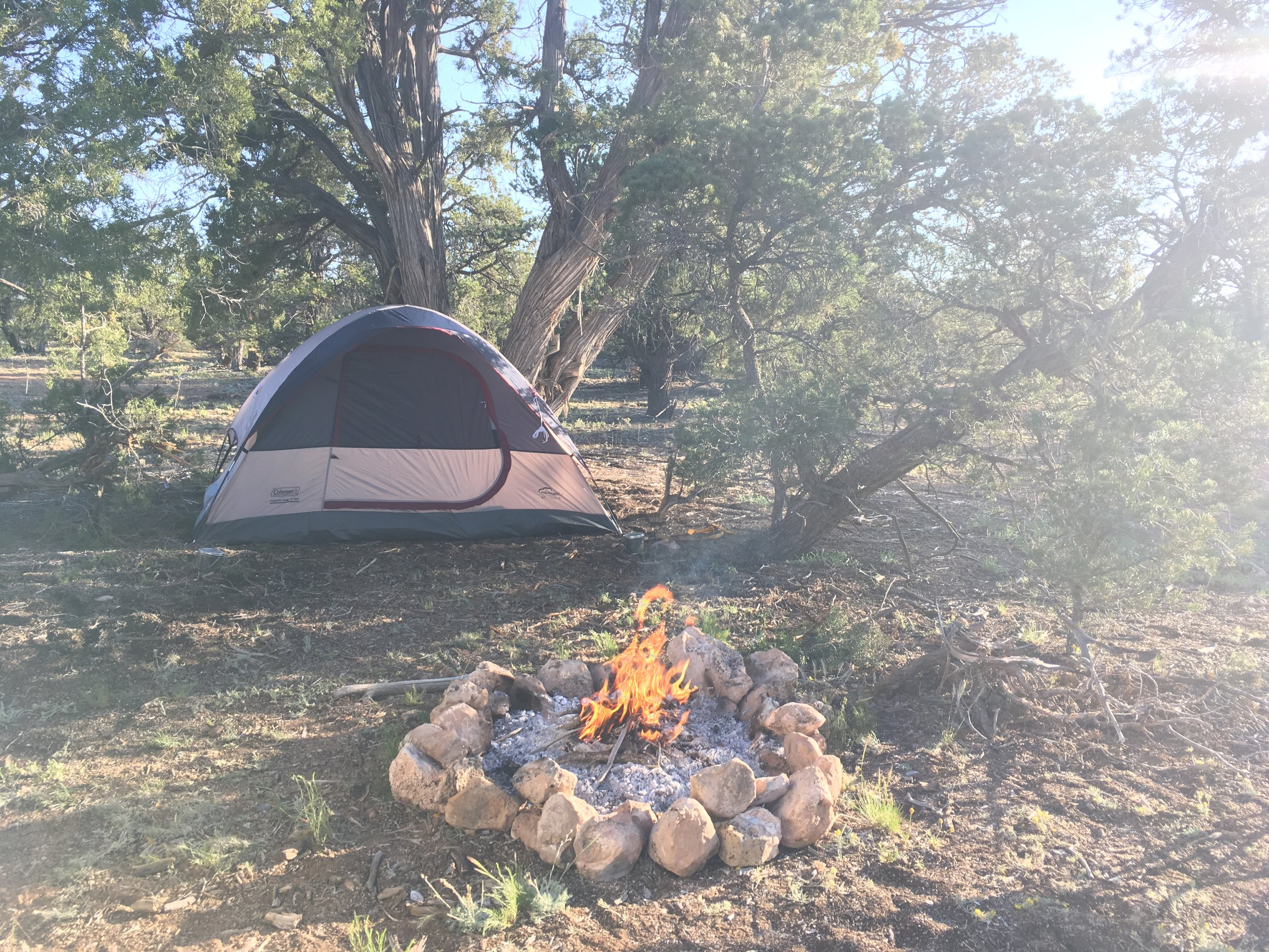 Early morning at the Grand Canyon campsite
