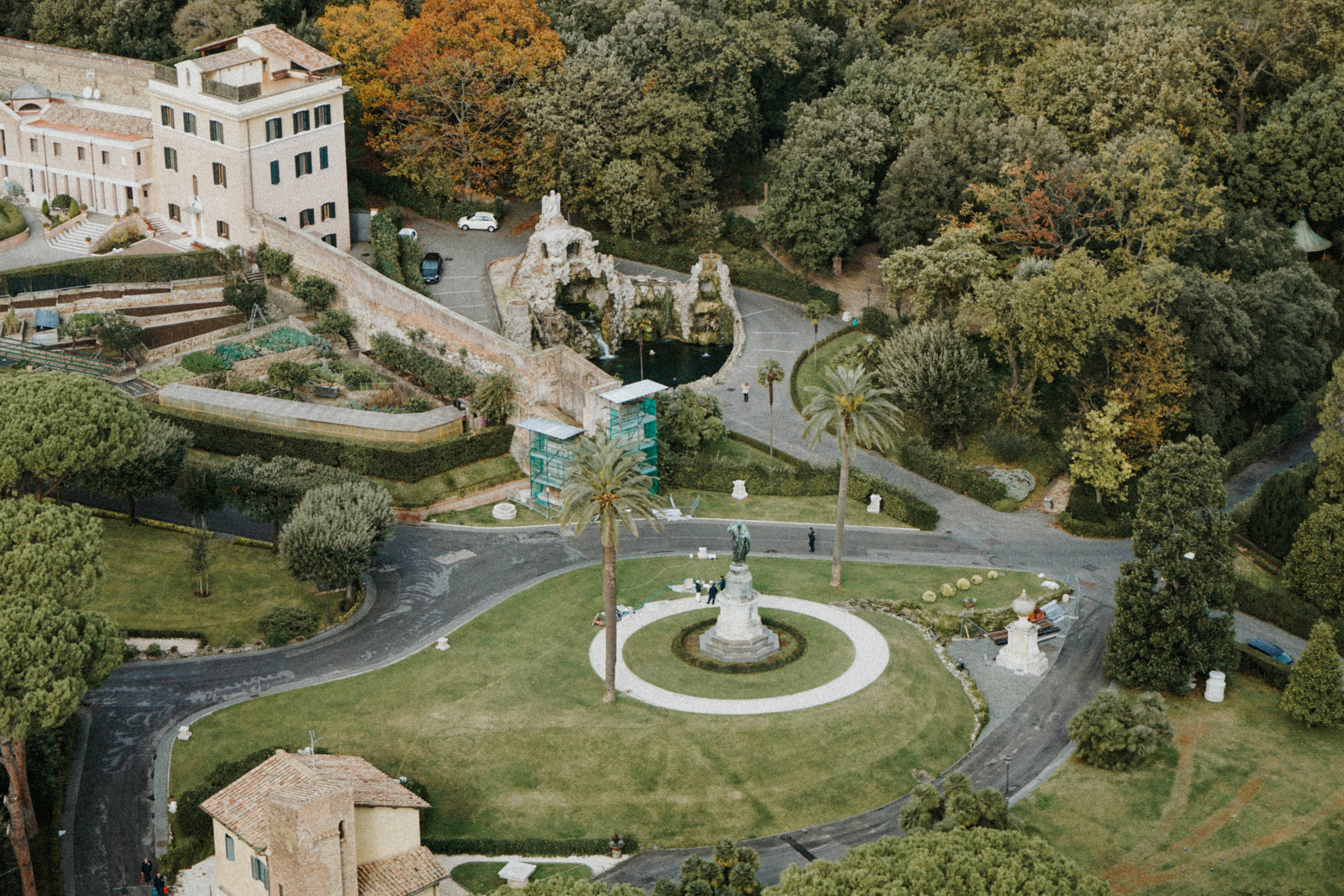 Gardens from the top of the dome | Fountain of the Eagle, celebrated the return of water to the Vatican from the Acqua Paola