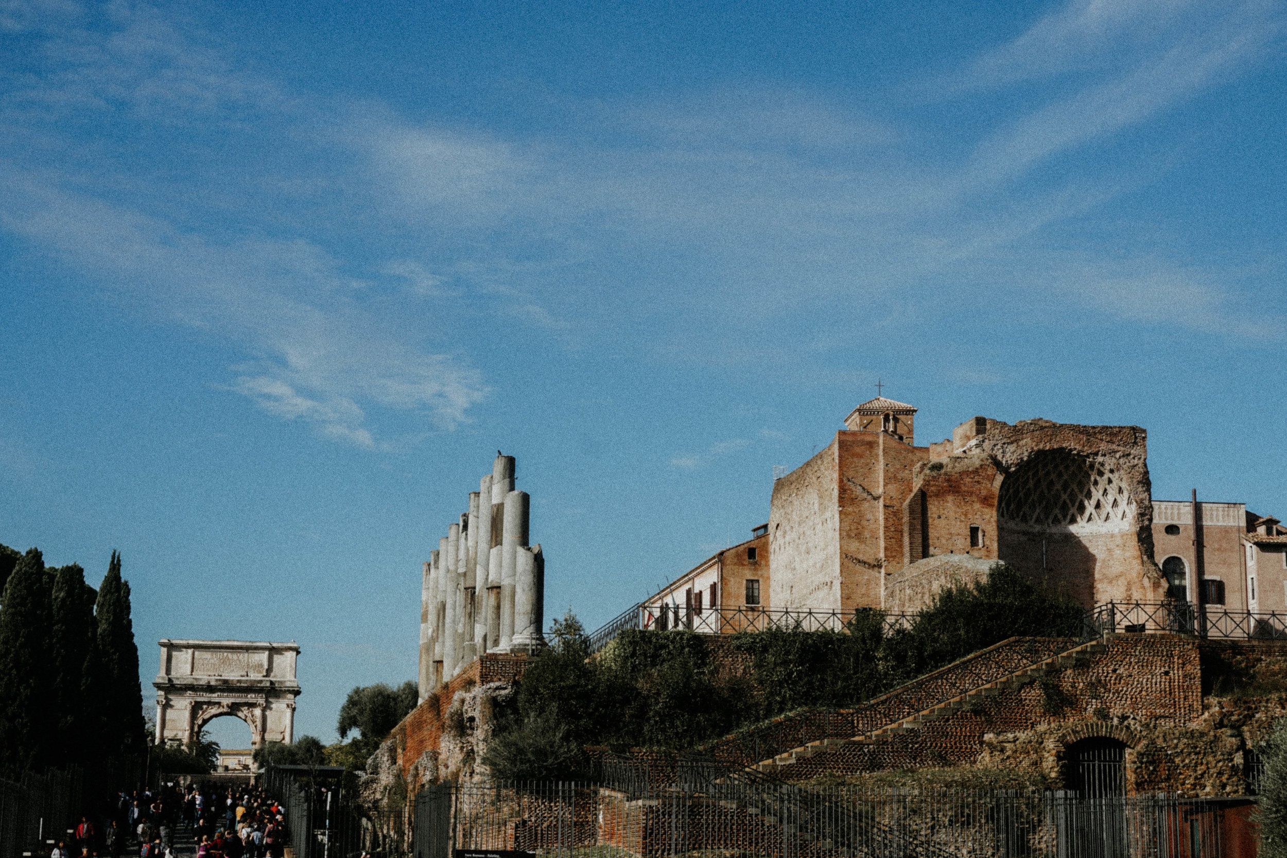 Palatine Hill from the Colosseum