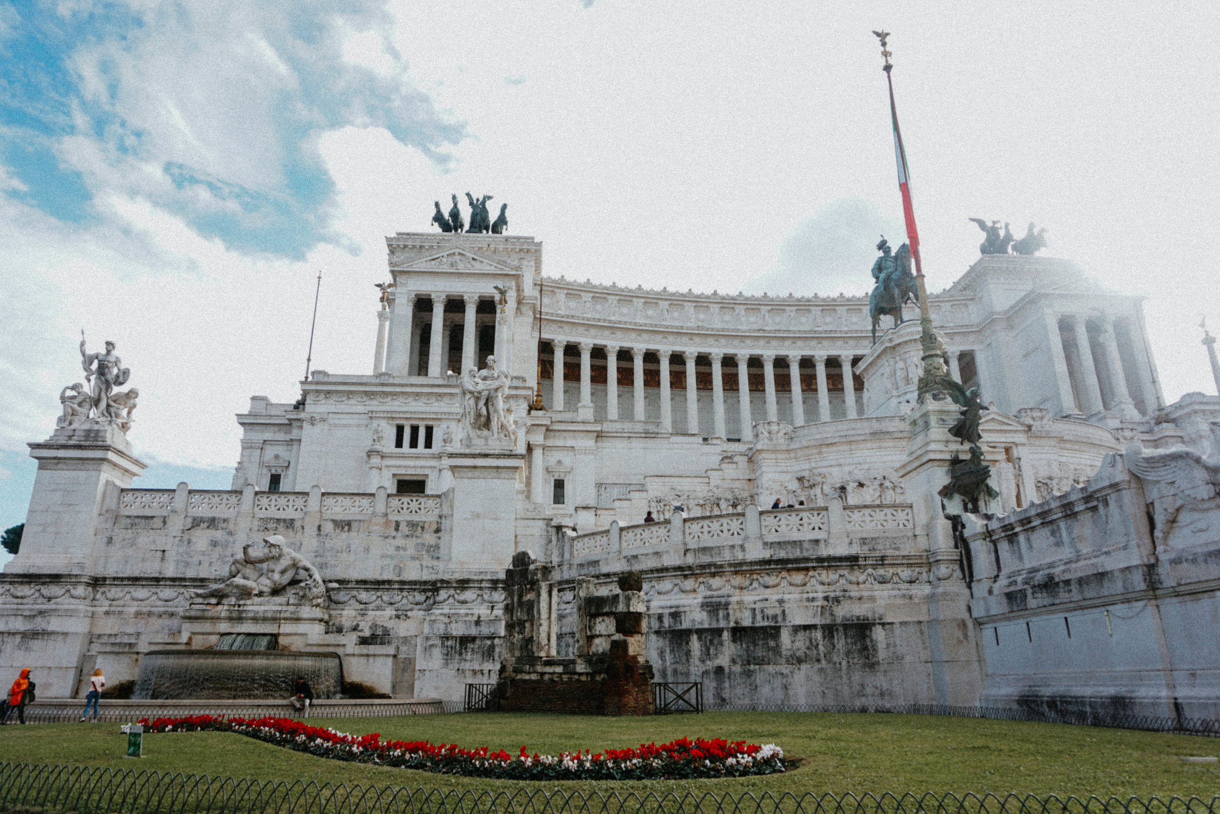 "Altare della Patria or Vittorio Emanuele II Monument. Locals call it the ""Wedding Cake"" because they do not like it."
