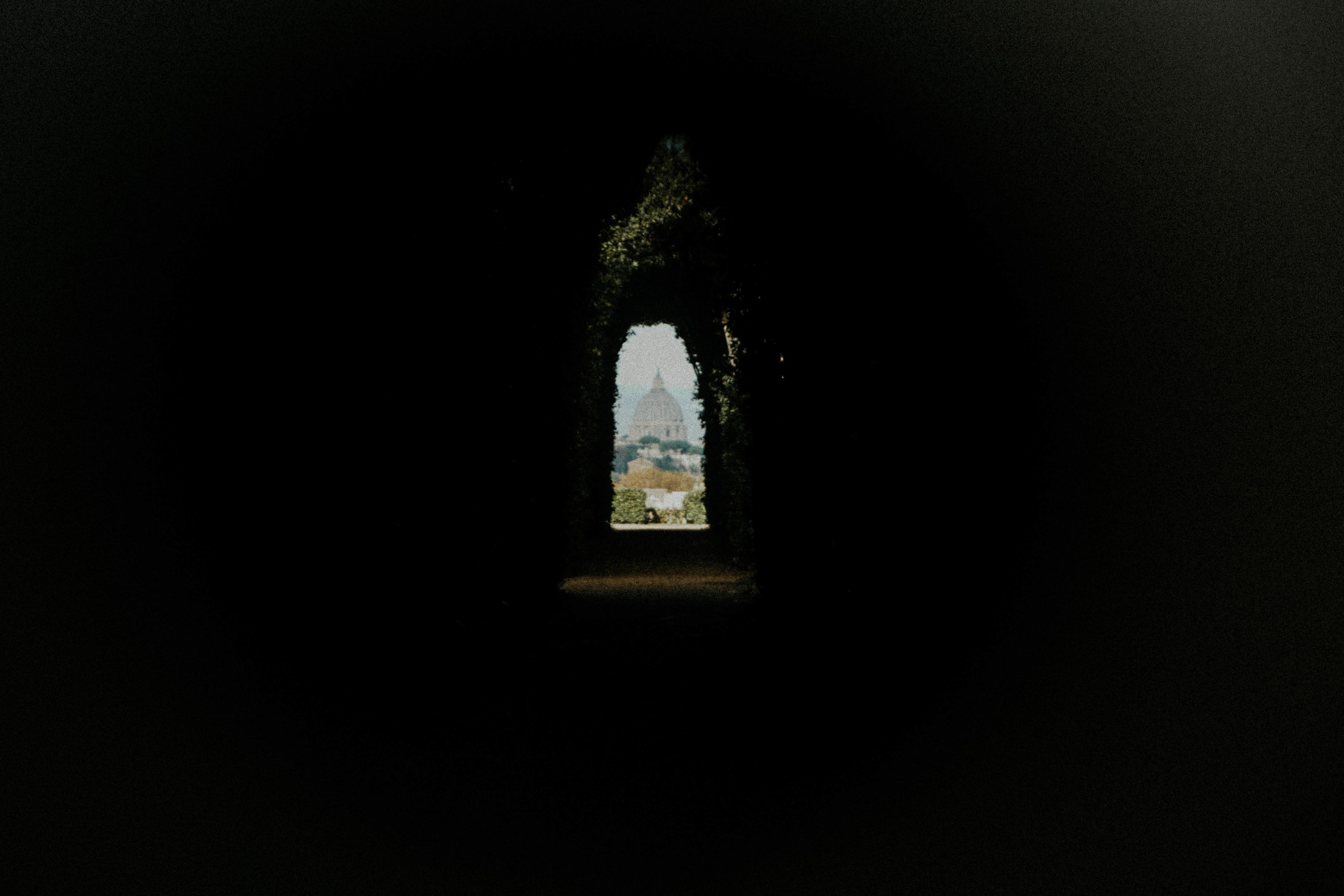 The Aventine Keyhole | Read more about it and the Knights of Malta  here .